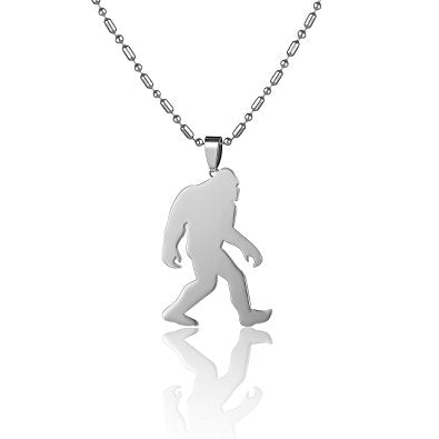Stainless Steel Yeti Sasquatch Bigfoot Big Foot Monster Ape Pendant Necklace(Free Shipping)