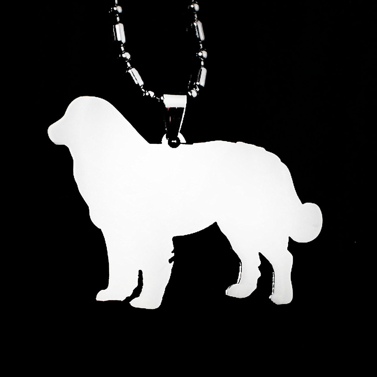 Stainless Steel Bernese Mountain Dog Pet Dog Tag Breed Collar Charm Pendant Necklace