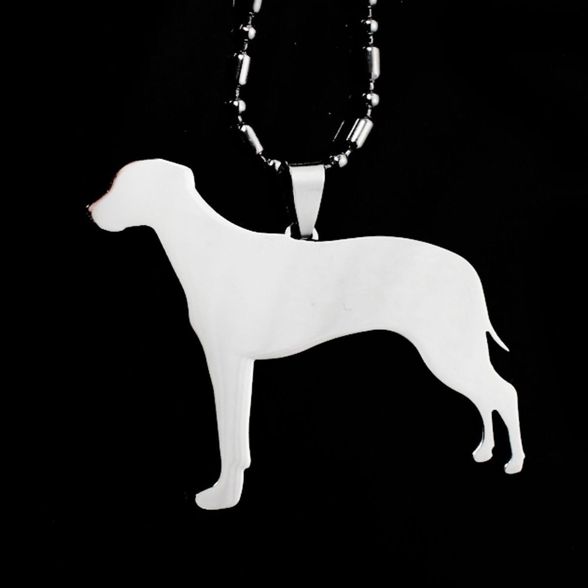 Stainless Steel Rhodesian Ridgeback African Lion Hound Pet Dog Tag Charm Pendant