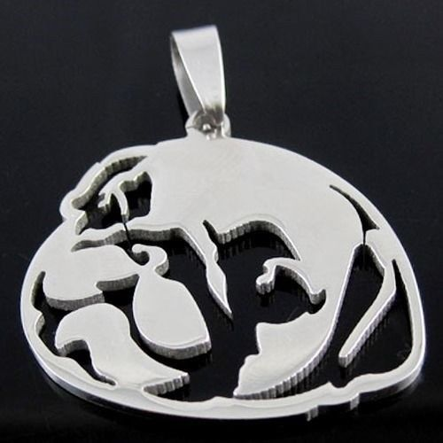 Chinese Pug Face Head Pet Dog Charm Pendant, mastiff Mops Carlin Dutch Bulldog