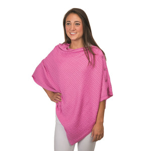 Top it Off Cable Knit Poncho Wrap