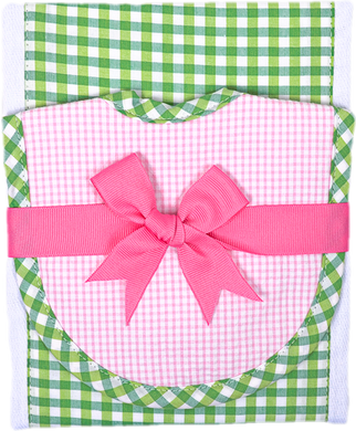 Burp & Bib Set - Green Check