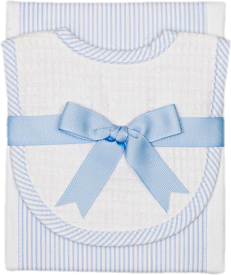 Burp & Bib Set - Blue Stripe