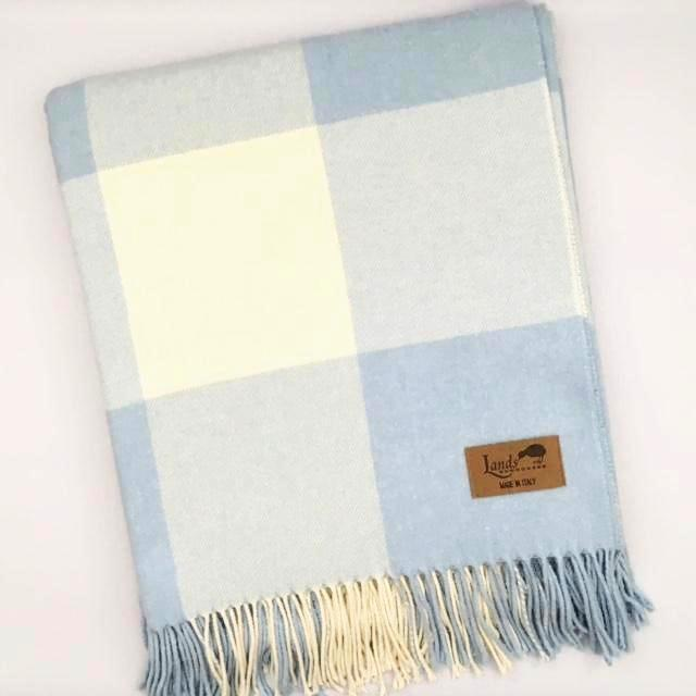 Lands Downunder Buffalo Check Throw - Baby Blue