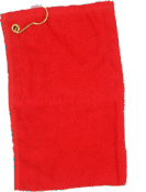 Terry Cotton Golf Towel - Red