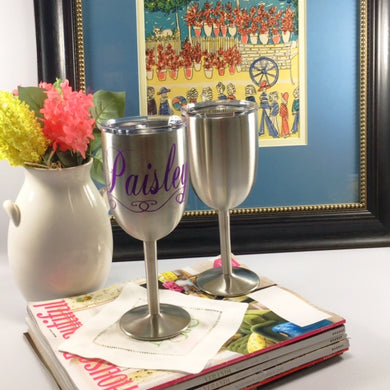 Stainless Steel 10oz Wine Glass