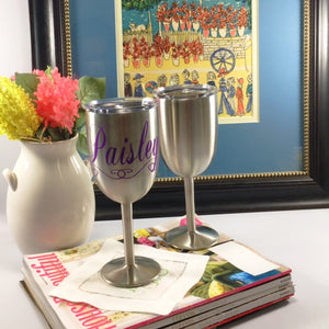 True North Stainless Steel 10oz Wine Glass