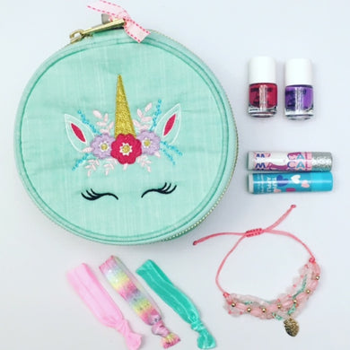 Unicorn Seersucker Large Circle Bag