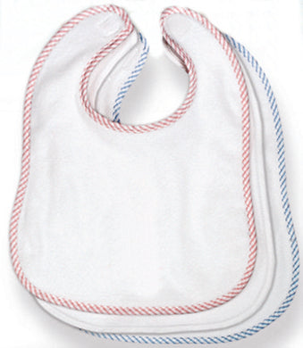 Terry Stripe Baby Bib