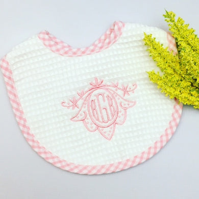 Gingham Check Pique Bibs