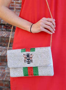 Queen Bee Beaded Purse