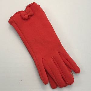 Occasionally Made Bow Gloves - Orange