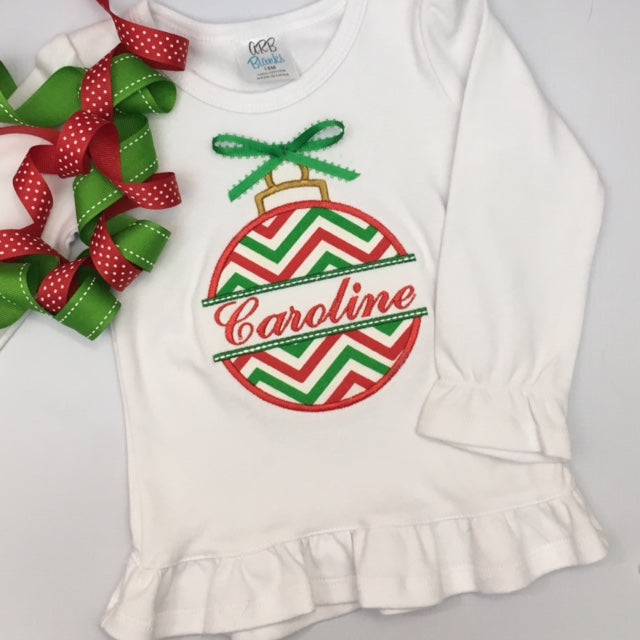 Christmas Ornament - Caroline applique tee