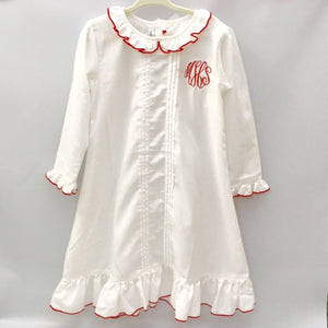 Sweet Dreams Ruffle Nightgown - Size 5 MHS initials