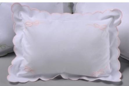 Corner Bow Baby Pillow