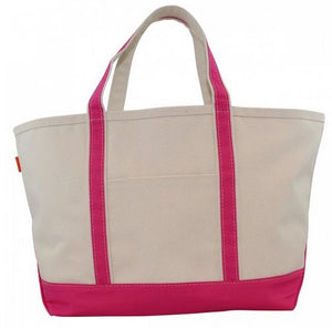 Sturdy yet stylish are these traditional canvas tote bags in small, medium and large sizes.