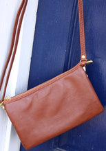 Load image into Gallery viewer, Perfect for any occasion are Caroline Hill's crossbody bag which also functions as a wristlet.  Available in beautiful soft leather or suede like fabric.