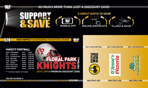 Floral Park Knights Football Premium Discount Card