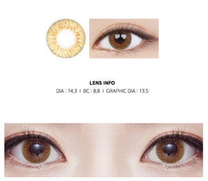 LEMSME Ample Tequila SUNSET BROWN -日抛14.3mm