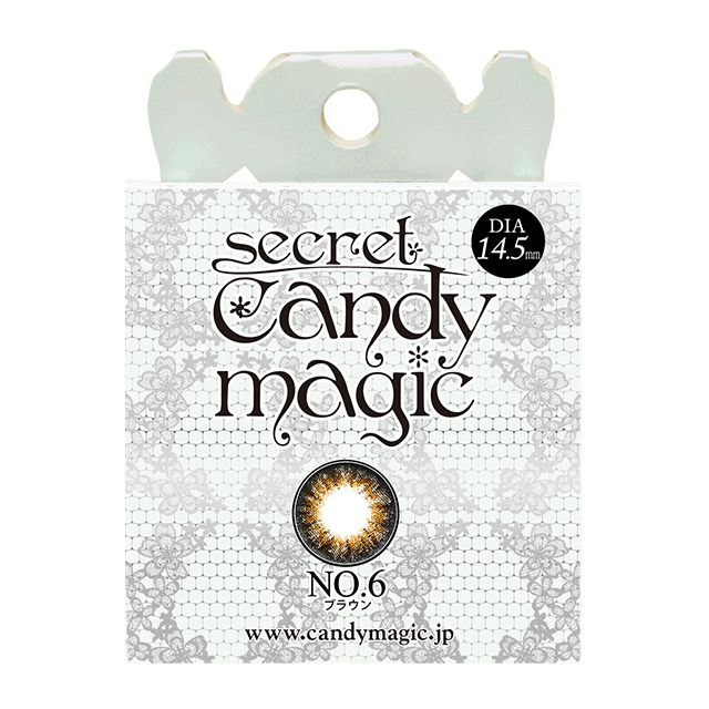 SecretCandyMagic棕色NO.06 Brown月抛2片装