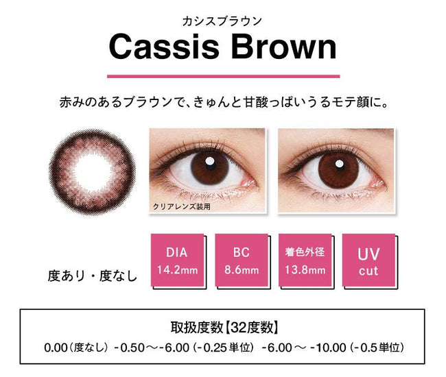 ANGELCOLOR  BAMBI SERIES 1 DAY CASSIEBROWN 10片装