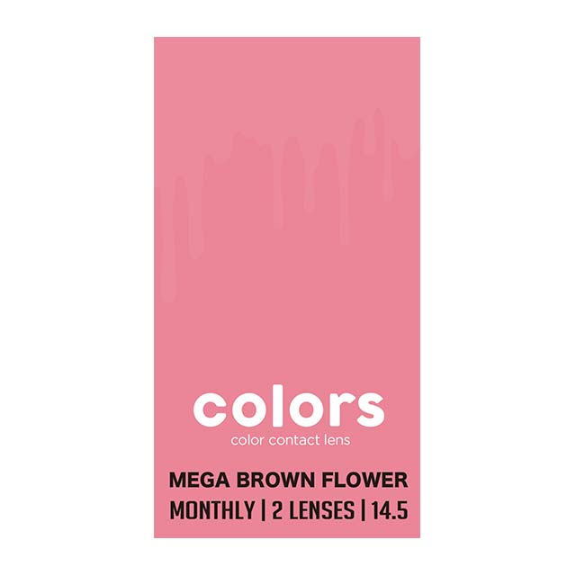 COLORS 1MONTH 月抛MEGA BROWN FLOWER----2片装