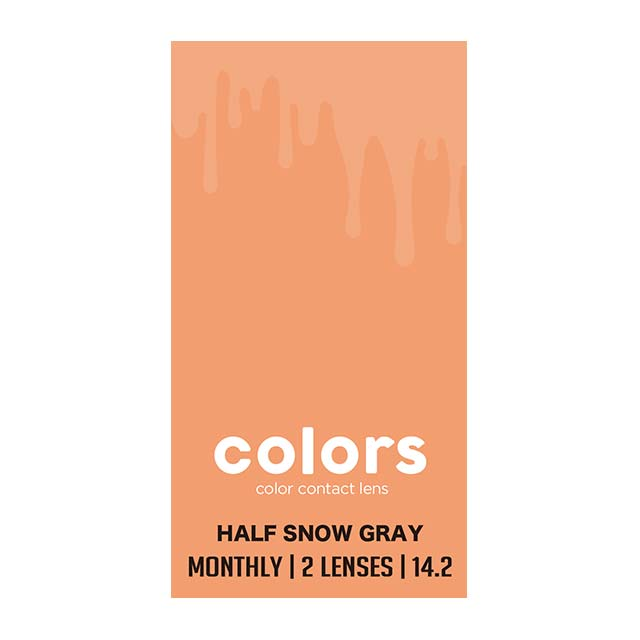COLORS 1MONTH 月抛HALF SNOW GREY----2片装