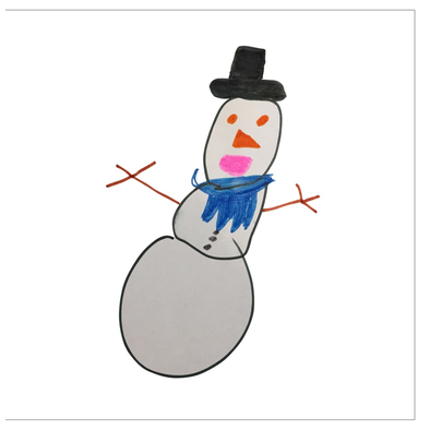 Alfred the Snowman Greeting Card
