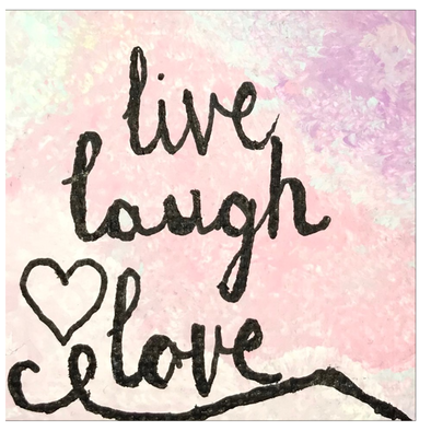Live, Laugh, Love Greeting Card