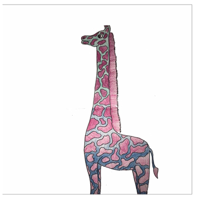 Ombre Giraffe Greeting Card