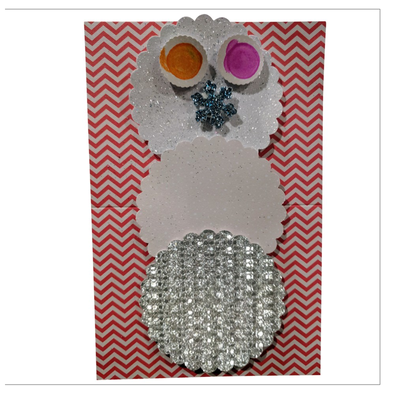 Snowman of Sparkles Greeting Card