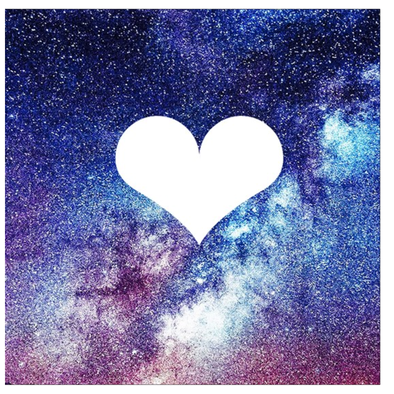 Heart Galaxy Greeting Cards