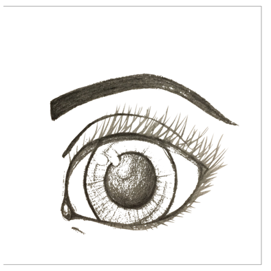 Eyes are the sea to the soul Greeting Cards