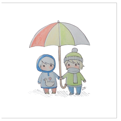 Our Umbrella Greeting Cards