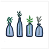 Plants in Jars Greeting Cards