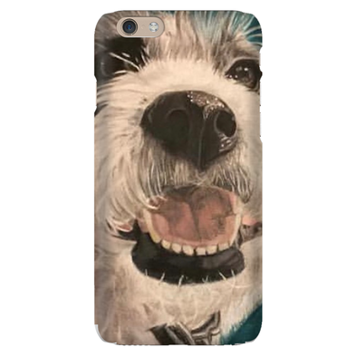 White Dog Phone Case