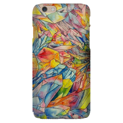 Crystal Formation Water Color Phone Cases