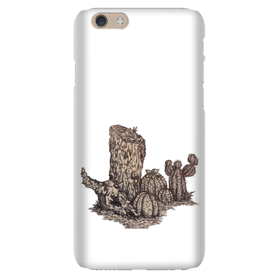 Desert Tree Stump, but more detailed Phone Cases