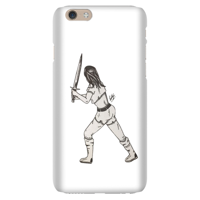 Girl With a Sword Phone Cases