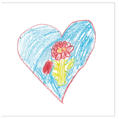 Heart Rose Greeting Card