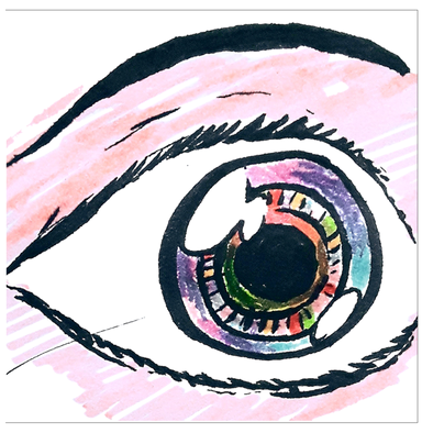 Eyeballing Colored Greeting Card