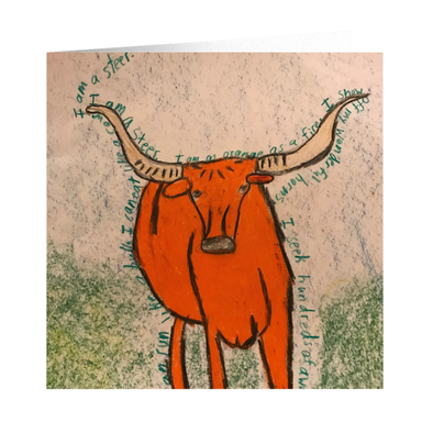 Billy the Steer Greeting Card
