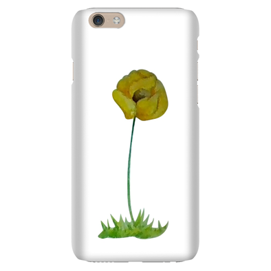 Yellow Poppy Phone Cases