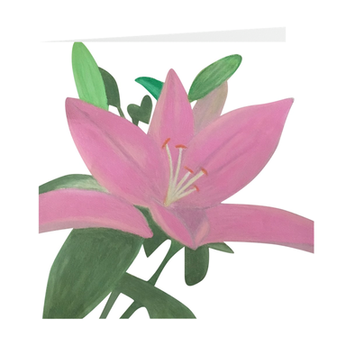 Artist Flower Greeting Card