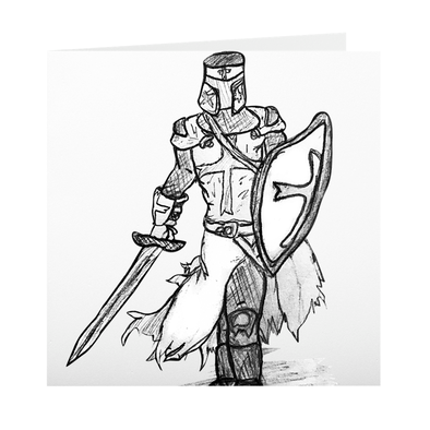 The Knight of Old Greeting Card