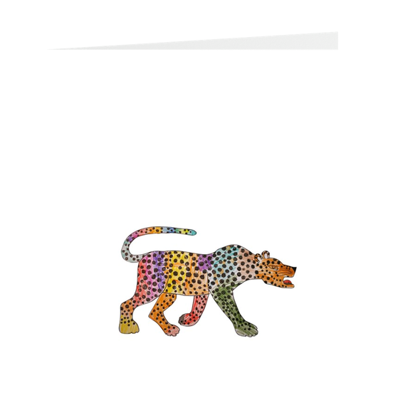 A Rainbow Coloured Cheetah Greeting Card