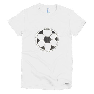 Soccer Ball Short sleeve women's t-shirt