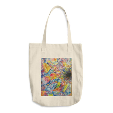Crystal Formation Water Color Cotton Tote Bag