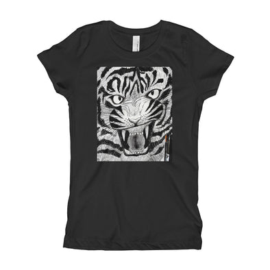 Full Furious Tiger Girl's T-Shirt