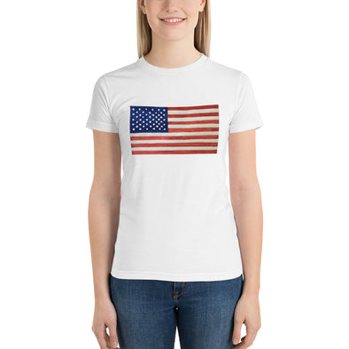 American Flag Short sleeve women's t-shirt